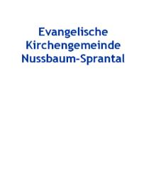 Gemeindehaus Nussbaum Quelle: A. Schabinger